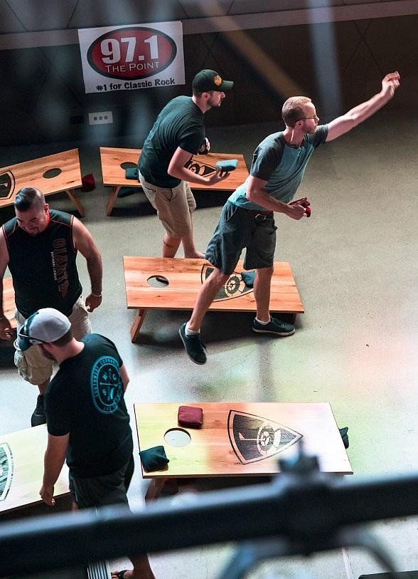Monday Night Cornhole Tournaments Sink into the Toyota Yard, Yoga with a View Stretches into Fall and Love and Theft Bring Country to the Stage