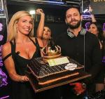 DJ Konflikt was presented with a custom cake topped with a crown to celebrate his birthday at Hyde Bellagio