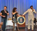 Donny & Marie Help Celebrate George Wallace's Birthday at Flamingo Las Vegas