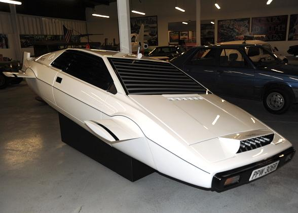 James Bond Lotus Submarine Car Driven by Roger Moore in 'The Spy Who Loved Me' now on Display at Hot Rod City Vegas