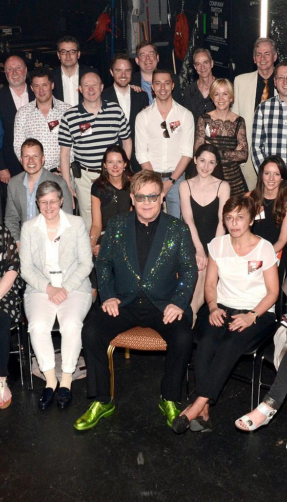 """Billy Elliott London Supporters attend Elton John's """"The Million Dollar Piano"""" at The Colosseum at Caesars Palace"""