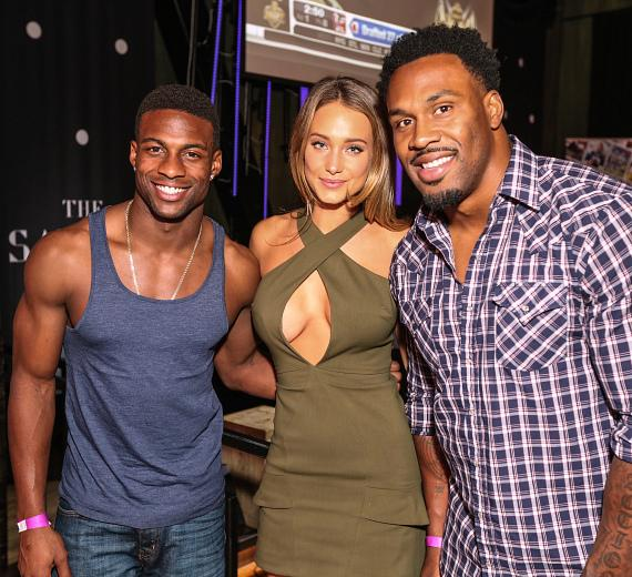 Pro Football Stars Emmanuel Sanders and Steven Jackson Host Sports Illustrated Draft Viewing Party with Swimsuit Model Hannah Davis at The Sayers Club
