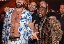 Tyson Fury, Floyd Mayweather and Michelle Wie Spotted at JEWEL and OMNIA Nightclubs