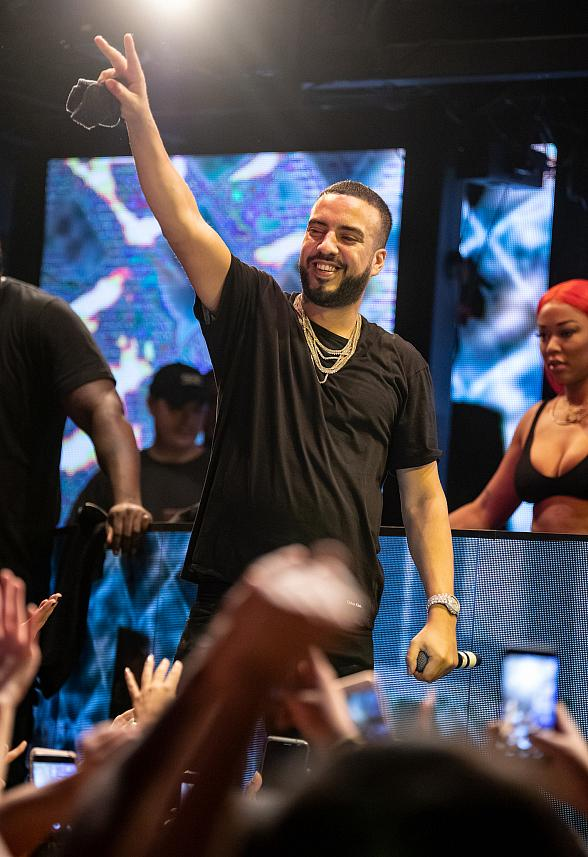 French Montana Performs for a Packed Crowd at Marquee Nightclub