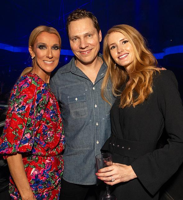Celine Dion Celebrates End of Las Vegas Residency at Omnia Nightclub Inside Caesars Palace