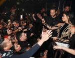 Cesar Ramirez and Kim Kardashian West attend Hakkasan Las Vegas third anniversary at Hakkasan at MGM Grand on April 9, 2016 in Las Vegas