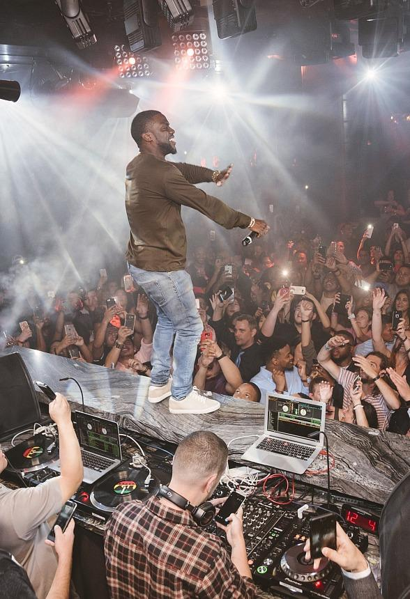 Comedian Kevin Hart Spotted at Heart of OMNIA inside OMNIA Nightclub