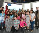 Kicking off CCSD's Each One Read One partnership with the High Roller, the Hal Smith Elementary School Honor Choir members read this year's selected book, Mr. Ferris and His Wheel, alongside author Kathryn Gibbs Davis in a ride on the world's tallest observation wheel.