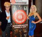 Murray SawChuck and Chloe Crawford at  Society of American Magicians annual dinner awards banquet in Vancouver, British Columbia