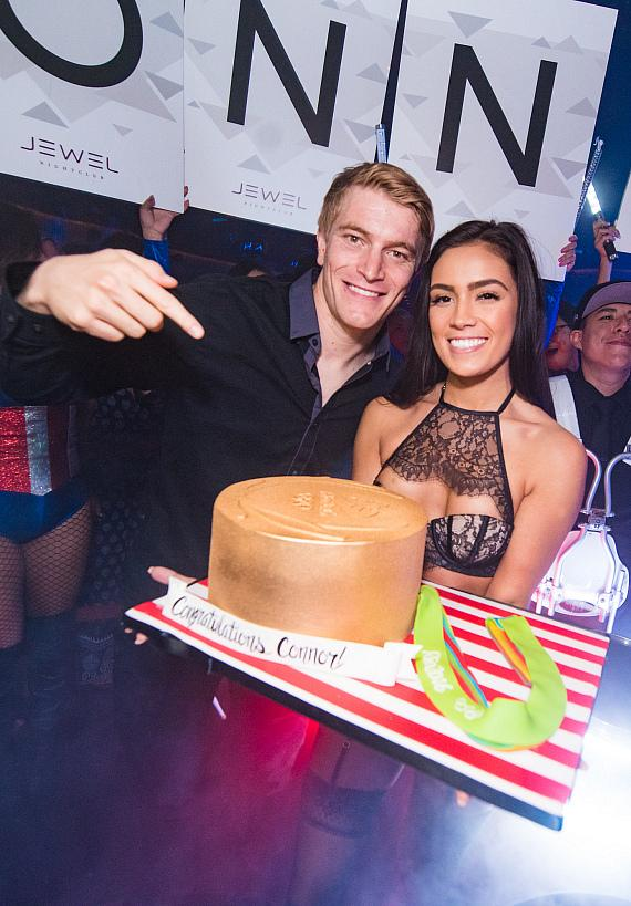 Olympic Gold Medalist Connor Fields Spotted at JEWEL Nightclub