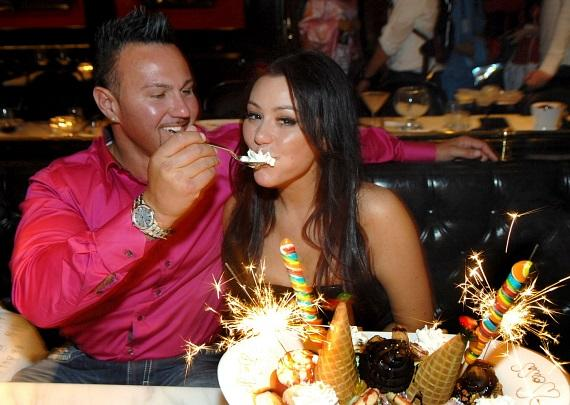 "Jennifer ""JWoww"" Farley enjoys a King Kong ice cream sundae at Sugar Factory American Brasserie at Paris Las Vegas"