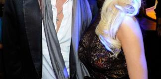 """Holly Madison poses with """"Peepshow"""" costar and best friend, Josh Strickland, at Gallery Nightclub"""