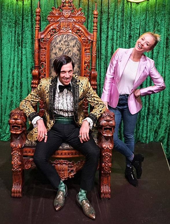 Kaley Cuoco Attends ABSINTHE at Caesars Palace in Las Vegas