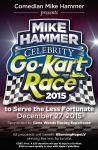 """Comedian Mike Hammer presents the Inaugural """"Mike Hammer Celebrity Go-Kart Race"""" to Serve the Less Fortunate Dec. 27"""