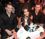 Mark Ballas, Kim Kardashian and Kris Humphries