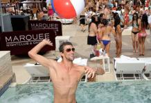 Olympic Swimmer Michael Phelps parties at Marquee Dayclub