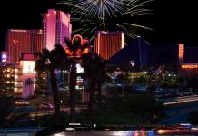 Las Vegas Monorail Delivers the Strip to New Year's Eve Partygoers