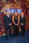 Mott 32 General Manager Nathan Grates, Group F&B Director Katelyn Ix and Senior Group Director of Operations Michael Main walk the carpet at Mott 32's grand opening