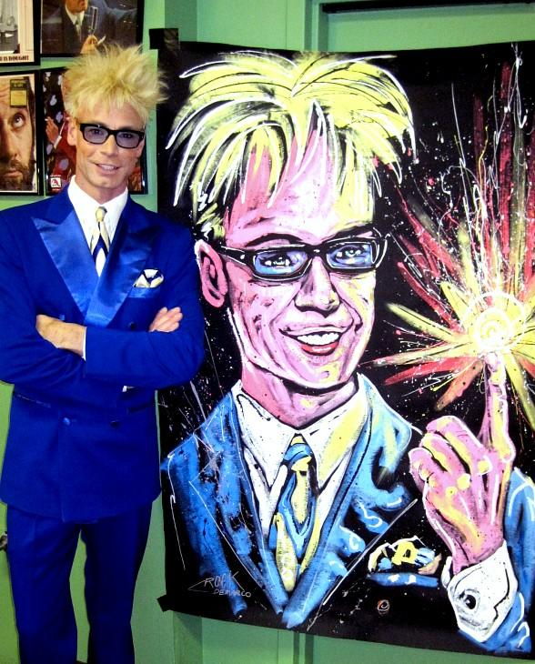 Murray SawChuck with Rock DeMarco Painting