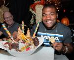 "Quinton ""Rampage"" Jackson eating the King Kong sundae at Sugar Factory"