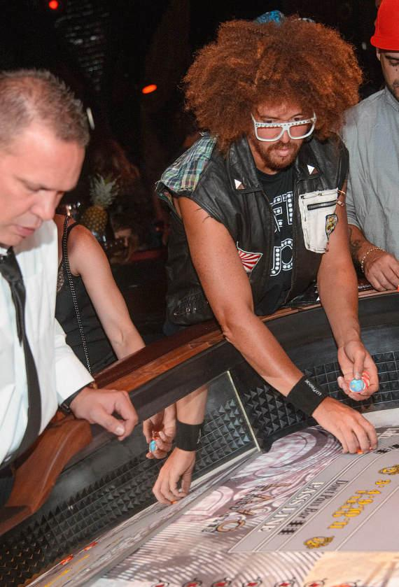 Redfoo, Cheryl Burke, Jason Strauss and Carmelo Anthony at LAVO & Marquee