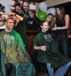 Dancers from FANTASY at the Luxor Hotel and Casino shave the first heads at Rí Rá