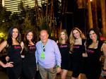 Robin Leach with cast of  FANTASY at Luxor