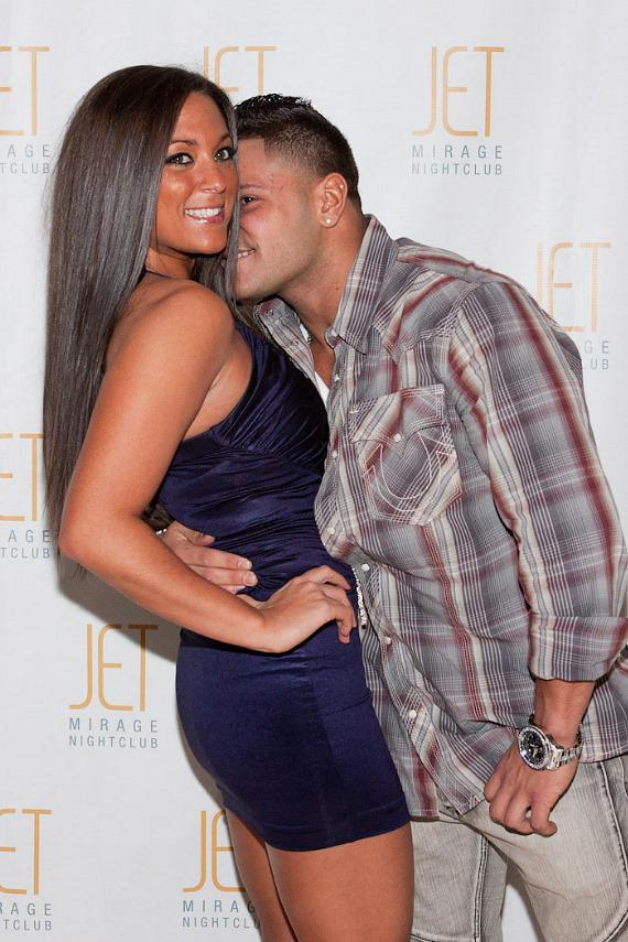 Jersey Shore's Ronnie Magro on the red carpet at JET Nightclub
