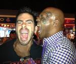 Eli Roth with former boxing champion Mike Tyson