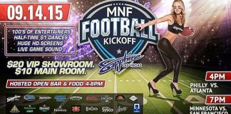 Sapphire, The World's Largest Gentlemen's Club, Kicks Off Annual Monday Night Football Party on Monday, September 14, 2015 with OPEN BAR AND FOOD from 4pm to 8pm
