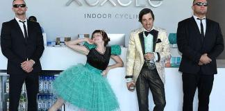 Cast Members of ABSINTHE take over XCYCLE Studio to Celebrate National Spandex Day June 25