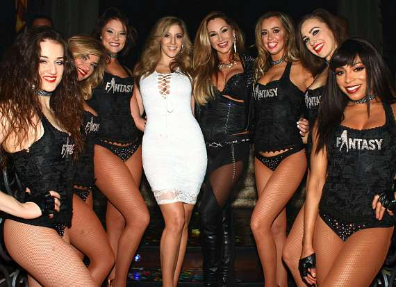 Miss February 2016 Playboy South Africa Soolin DeMaria and Cast of FANTASY heat up LAX Nightclub with Valentine's Eve Performance