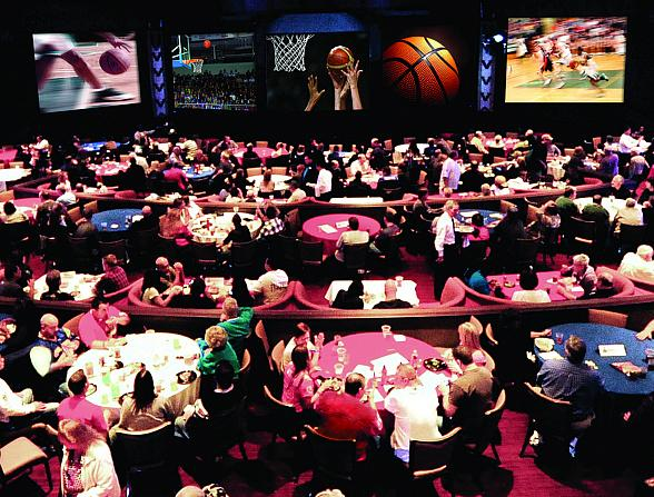 B- Ball Tournament HQ at the Stratosphere Casino, Hotel & Tower offers fans nine huge screens to catch all the action of their favorite teams