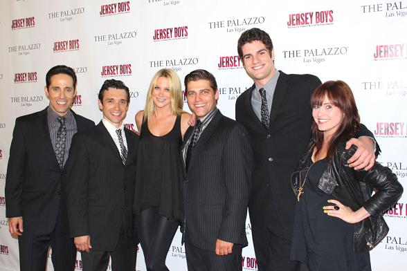 """From left to right: Jeff Leibow, Rick Faugno, """"The Hills"""" star Stephanie Pratt, Deven May, Peter Saide, Heather Weiss"""