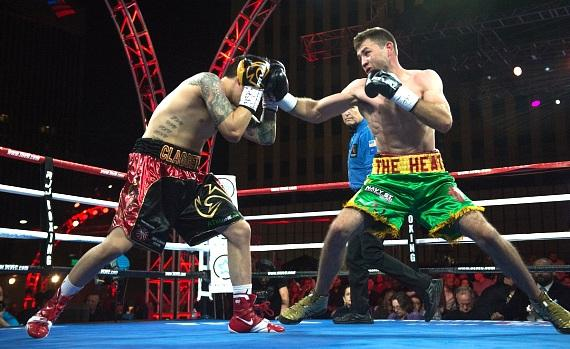 """Chris Van Heerden defeats Steve Claggett at """"Knockout Night at the D"""" presented by Roy Jones Jr. Boxing at Downtown Las Vegas Event Center"""