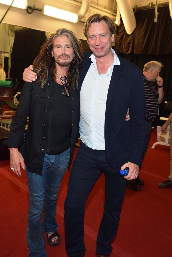 Steven Tyler at The Beatles LOVE by Cirque du Soleil on Show's 10th Anniversary