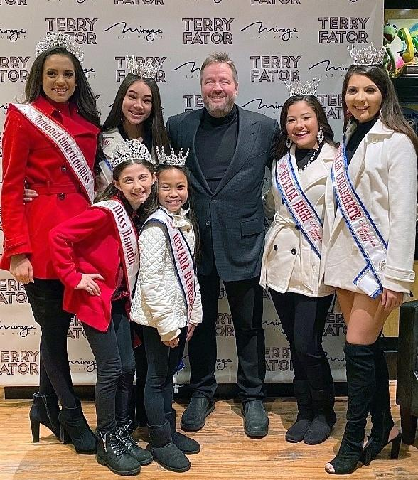 Miss Nevada High School America Pageant Contestants Attend The Terry Fator Christmas show