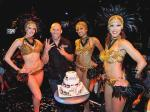 Wanderlei celebrates with the 54 Girls