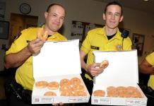 Krispy Kreme at Castle Walk Food Court Donates 500 Doughnuts to Police Department for Hero Appreciation Day