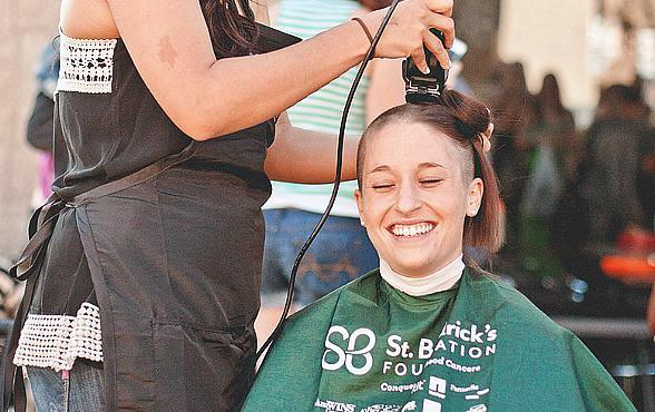 Mothers from Across the U.S. Go Bald to Support Childhood Cancer Research