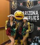 mascot, Chance, and members of the promo team, the Vegas Vivas