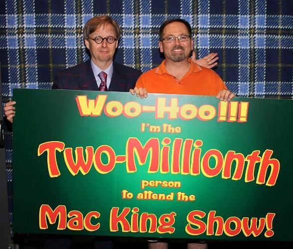 """The Mac King Comedy Magic Show"" at Harrah's Las Vegas Celebrates Two-Millionth Audience Member"