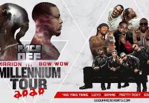 Omarion and Bow Wow to Face Off in The Millennium Tour 2020 with Special Guests Ying Yang Twins, Lloyd, Sammie, Pretty Ricky and Soulja Boy Live in Concert at MGM Grand Garden Arena May 9, 2020
