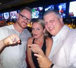 NHL Stanley Cup winner Jason Williams with the D owner Derek Stevens and his wife Nicole at the World Famous LONGBAR