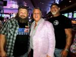"""Roy """"Big Country"""" Nelson with casino owner Derek Stevens and WWE Bill Goldberg at the D Las Vegas"""