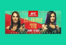 UFC Action Continues in Las Vegas With Three Additional Events in June; No. 1 Ranked Jessica Eye vs. Cynthia Calvillo in Flyweight Division