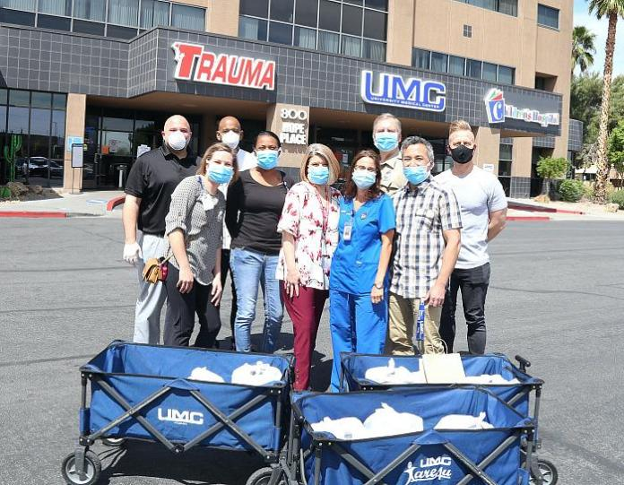 Triple George Grill Surprises Staff at UMC with Power Lunch Delivery