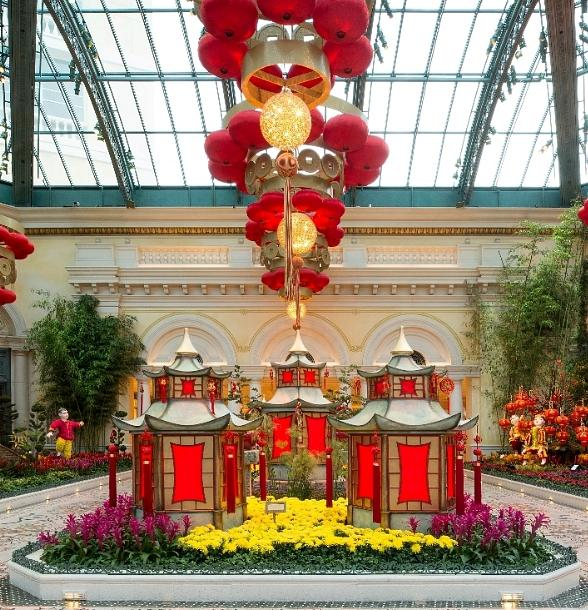 Bellagio's Conservatory & Botanical Gardens Boasts a Picturesque Display Honoring Chinese New Year Vivid Display Heralds the Year of the Yang