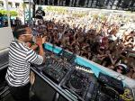 will.i.am in DJ booth at WET REPUBLIC