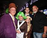 WWE Bill Goldberg (L) with Casino Owner Derek Stevens and wife Nicole with kids Sammy and Whitney at LONGBAR Las Vegas